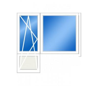 Балконный блок (серия 505): дверь 730*2150 мм, окно 1500х1530