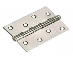 Петля стальная универсальная MS 100X70X2.5-4BB SN Цвет Белый никель