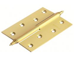 Петля латунная разъёмная с короной MB 100X70X3 SG L C Цвет Матовое золото