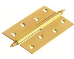 Петля латунная разъёмная с короной MB 100X70X3 PG L C Цвет Золото