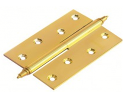Петля латунная разъёмная с короной MB 100X70X3 PG R C Цвет Золото
