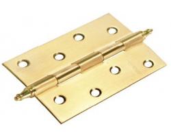 Петля стальная универсальная с короной MS 100X70X2.5-U SG Цвет Матовое золото