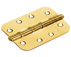 Петля стальная универсальная скругленная MS-C 100X70X2.5-4BB SG Цвет Матовое золото/золото