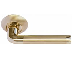 Дверные ручки Morelli MH-03 SG/GP Цвет Матовое золото/золото