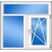 Трехстворчатое пластиковое окно (серия 505) 2230х1530 мм