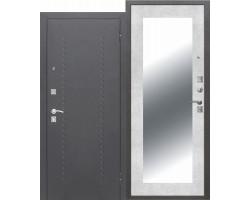 Дверь входная DOMINANTA Серебро Зеркало