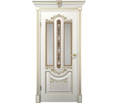Дверь Олимпия Белое дерево Стекло в Санкт-Петербурге