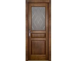 Дверь Valencia (Валенсия) античный орех (остекленная)