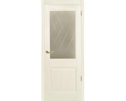 Дверь Elegy (Элегия) белый цвет остеклённая