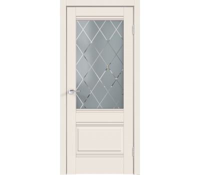 Дверь VellDoris ALTO 2V ВАНИЛЬ-ЭМАЛИТ стекло в Санкт-Петербурге
