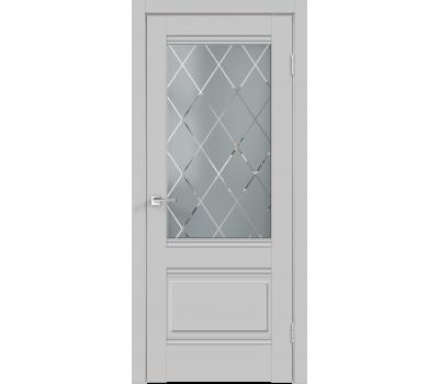 Дверь VellDoris ALTO 2V СЕРЫЙ ЭМАЛИТ стекло в Санкт-Петербурге