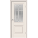 Дверь VellDoris ALTO 8 БЕЛЫЙ ЭМАЛИТ стекло английская решетка наличник волна в Санкт-Петербурге