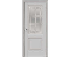 VellDoris ALTO 8 БЕЛЫЙ ЭМАЛИТ стекло английская решетка
