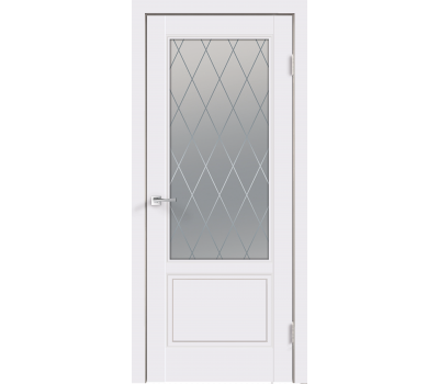 Дверь VellDoris  SCANDI 2V  Эмаль  остекленное в Санкт-Петербурге